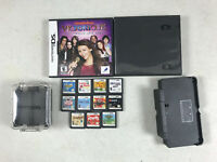 Nintendo 3DS Charger Cradle 11 DS Games 2 Game Cases & Game Carrying Case