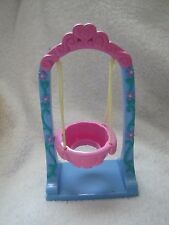 Fisher Price Little People PINK GARDEN SWING w/ FLOWERS ARBOR ARCHWAY Spring