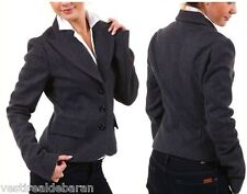 Giacca Blazer Donna SEXY WOMAN A489 Made in Italy Nero Tg 42