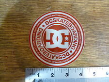 """DC shoes 4"""" Red/Clear Circle Sticker Decal"""
