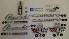 Emblem Kit 33pc w/ fasteners 67 Camaro Standard 350 *In Stock* V Flag Badge vee