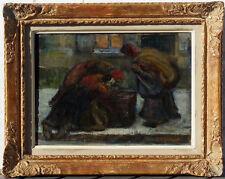 Emile Thysebaert, 1910, Bénézit, Coté 1800€! Les Chiffonnières! Rare!