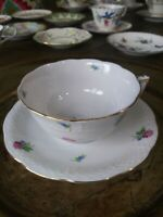 VTG HEREND Hand Painted Porcelain Tea Cup & Saucer. Kimberly Pattern EXC.