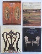 4 Sotheby's Auction Catalogs Including EUROPEAN FURNITURE * Reference Material !