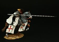 Tin soldier, Museum (TOP) Templar Master on Horseback 54 mm, Medieval