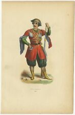 Antique Print of a Prince from Imereti by Wahlen (1843)