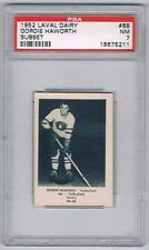 1952 Laval Dairy Subset Hockey Card Valleyfield Braves G. Haworth Graded PSA 7