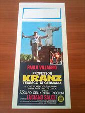 PROFESSOR KRANZ TEDESCO DI GERMANIA locandina poster Paolo Villaggio Celi AO55