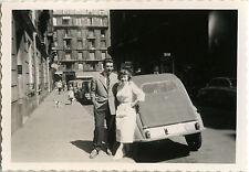 PHOTO ANCIENNE - VINTAGE SNAPSHOT - VOITURE 2 CV CITROËN AUTOMOBILE COUPLE - CAR