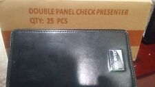 new 100 PCS DOUBLE PANEL CHECK PRESENTER DISCOVER LOT CREDIT CARD RESTAURANT BIL