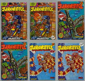 JUNKWAFFLE #1 #2 #3 #4 CHEECH WIZARD THE MAN SUNPOT LOT OF 13 COMICS VAUGHN BODE