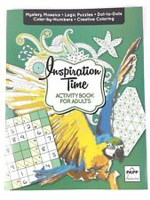 Activity Book for Adults Inspiration Time Color by Numbers Creative Coloring