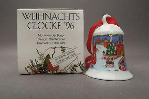 Hutschenreuther Weihnachtsglocke 1996 Ole Winter In der Burg in OVP