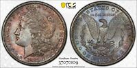 1881-S MORGAN SILVER DOLLAR PCGS MS64 UNC GEM COLOR BU STRIKING TONED (DR)