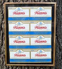 Hamm's Beer Framed Picture Old Labels PVC Plastic Sign Wall Plaque Label Art