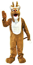 Reindeer Mascot Complete Adult Costume Plush Body Oversized Fancy Dress