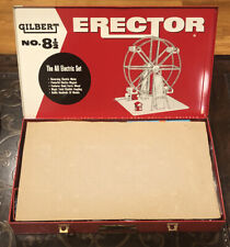 Vintage 1957 AC GILBERT No. 8 1/2 ERECTOR *All Electric Giant Ferris Wheel Set*