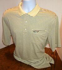 Greg Norman Shark For Tasso Elba Five Iron Play Dry Golf Polo Shirt Men's M
