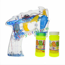 Bulle Gun allument clignotant led bubble machine enfants extérieur jardin jouet