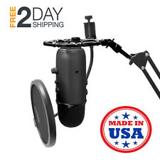 Blue Yeti Snowball Shock Mount Hold Mic Adjustable For Microphone Boom Arm Stand