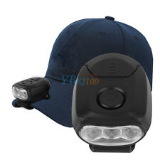 1*Cap Lamp Out Fishing Hunting Camping 3 LED Clip On Head Lamp  Hat Light Torch