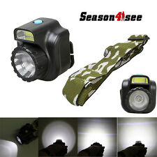 600 Lumen 2 LED 4 Mode 4.5V AA battery Multifunctional Adjustable Headlamp Black