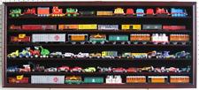 LARGE HO / RR Scale Train Hot wheels Display Case Cabinet Shadow Box-Mahogany