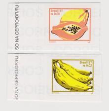 Brasilien, Briefmarken Motiv: Früchte, Melone, Banane, selbstklebend, postfrisch