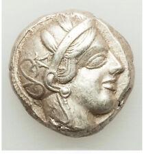 440-04 BC Ancient Greece Athens AR tetradrachm Choice XF HIGH POINTS BRITE WHITE