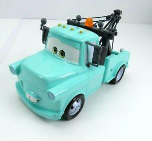 """Disney Pixar Cars Tow Mater Sounds 11"""" Talking Blue Wrecker Mattel"""