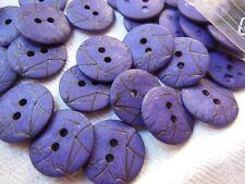 lot 20 boutons violet  effet craquelé 2 trous couture mercerie 1,4 cm ref 1074
