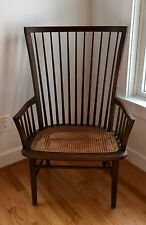 Vintage Baker Furniture Windsor-Style Wood Bow/Spindle Back Chair w/ Cane Seat