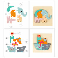 3D Wooden Jigsaw Puzzles Animal Lions Shape Pieces for Adult Kid Toy Home Decor