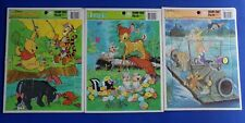 Walt Disney Frame Tray Puzzle Bambi WInnie the Pooh The Rescuers Golden