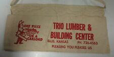 Vtg Hardware Apron Trio Lumber & Building Center Ellis Kansas Advertising Canvas