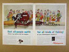 1964 Shakespeare WonderFlyte & Wonderod fishing reel rod art vintage print Ad