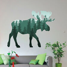 Moose Wild Animal Colored Wall Decals Forrest Pattern Home Vinyl Stickers AR247