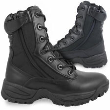 Black Double Side Zip Military Combat Duty Army Tactical Security Police Boots