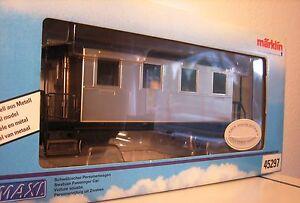Märklin 45297 Gauge 1 Passenger Car Nickel Plated Like New Original Box