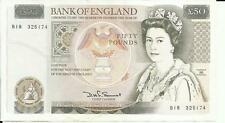 UK GREAT BRITAIN 50 POUNDS  P 381. XF CONDITION. 6RW 15ABR