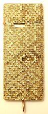 ELEGANT 18K GOLD THIN LIGHTER WEAVED DIAMOND PATTERN ( CARTIER DUNHILL ?)