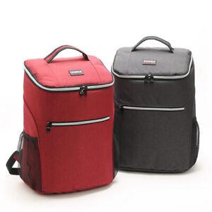 Larger Insulated Cooler Bag Lunch Picnic Backpack Thermal Shoulder Bag Big Box