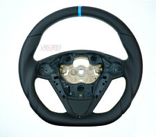 FORD FIESTA MK7 08-15 Nappa custom thick steering wheel flat bottom TOP QUALITY