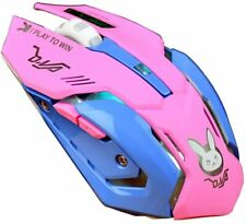 Game Overwatch D.va Pink Wireless Gaming Mouse Diva Theme