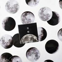 45Pcs Pro Mini Creative Moon Label Paper Sticker Diary Scrapbooking Journal
