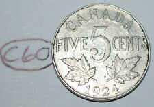 Canada 1924 5 Cents George V Canadian Nickel Lot #C60