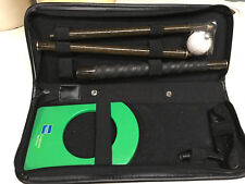 Executive Golf Putter Set Case Office Travel American Express Amex Ball