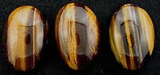 ONE 40x28 Tapered Oval Pear Tigereye Cabochon Gemstone