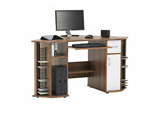 Lyndon French Walnut Effect Corner Computer Desk