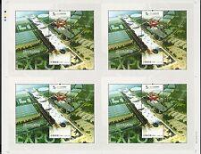 China 2010-3 Shanghai Expo Stadium Block Uncut Full S/S Rare 世博四連體